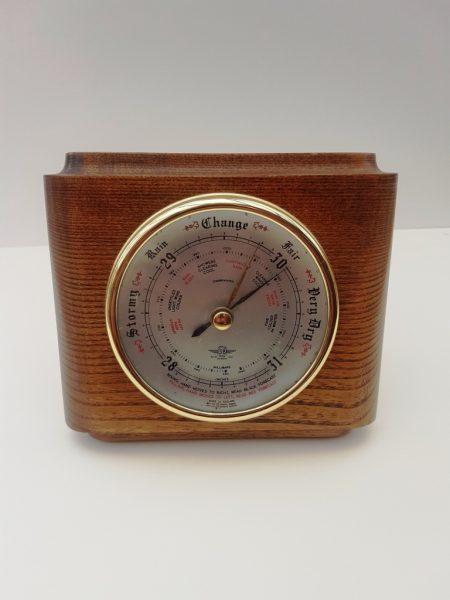 Smiths oak cased barometer