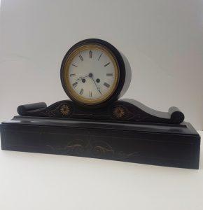 victorian black slate marble clock