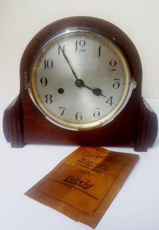 Enfield two-train mantel clock